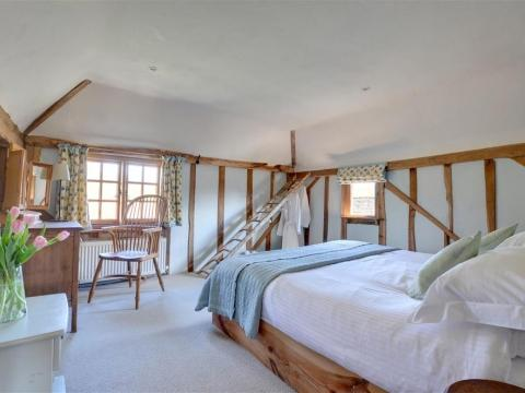 One of the bedrooms at Iden Green Farm Barn