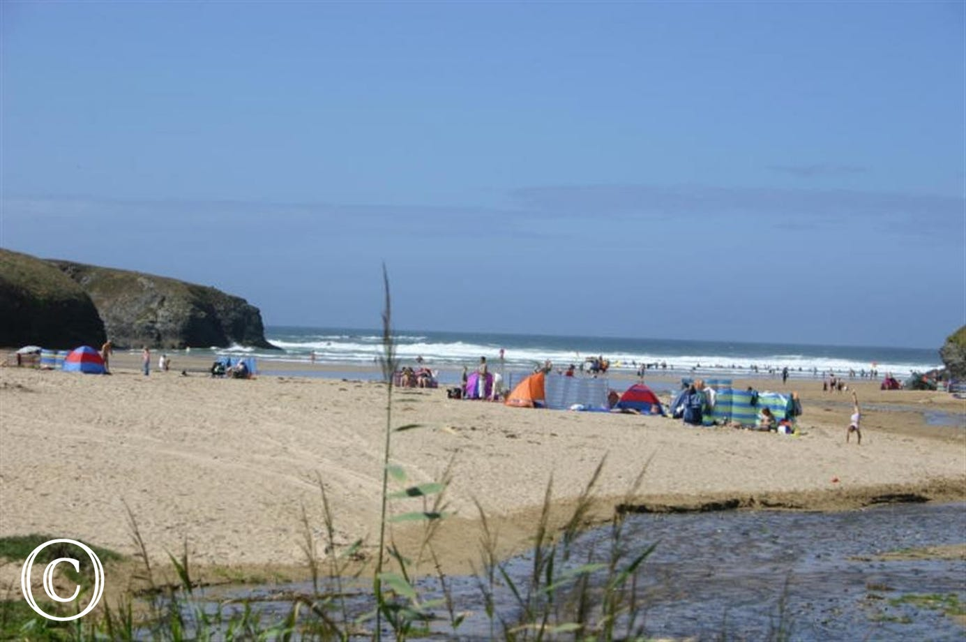 10 minute walk to Porthcothan Bay beach