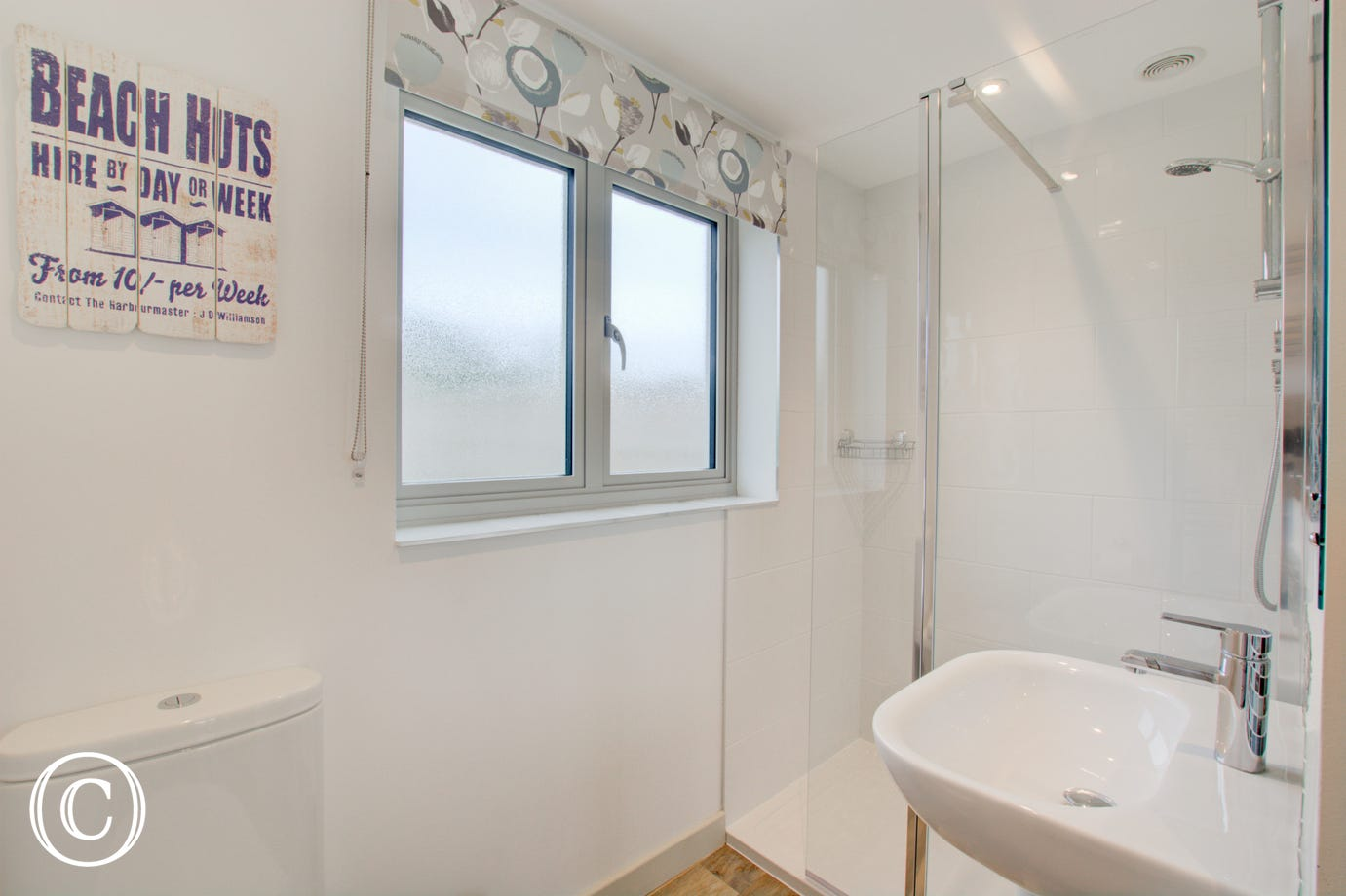 Shower room on the ground floor