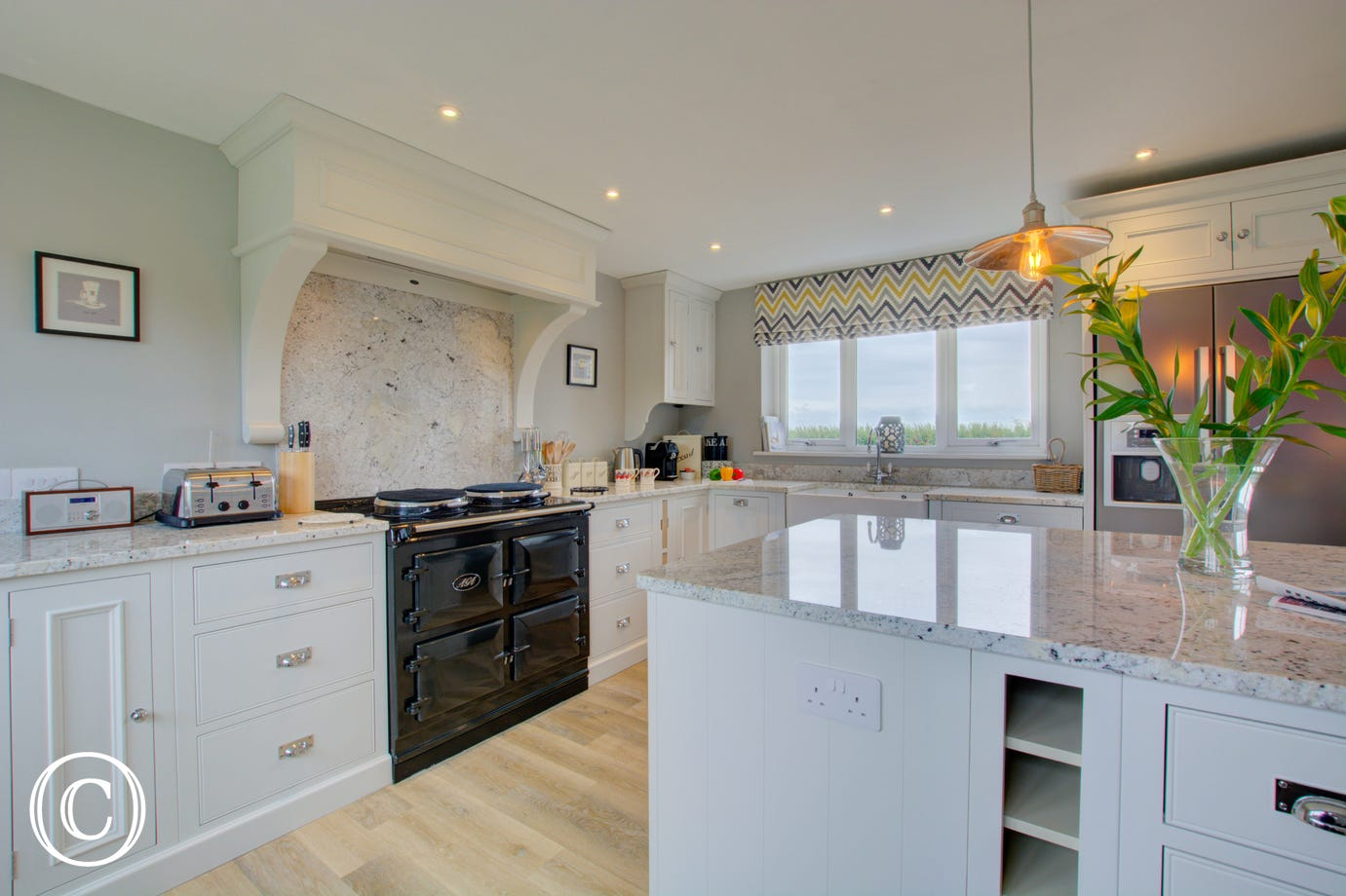 The kitchen has everything needed for your self catering break
