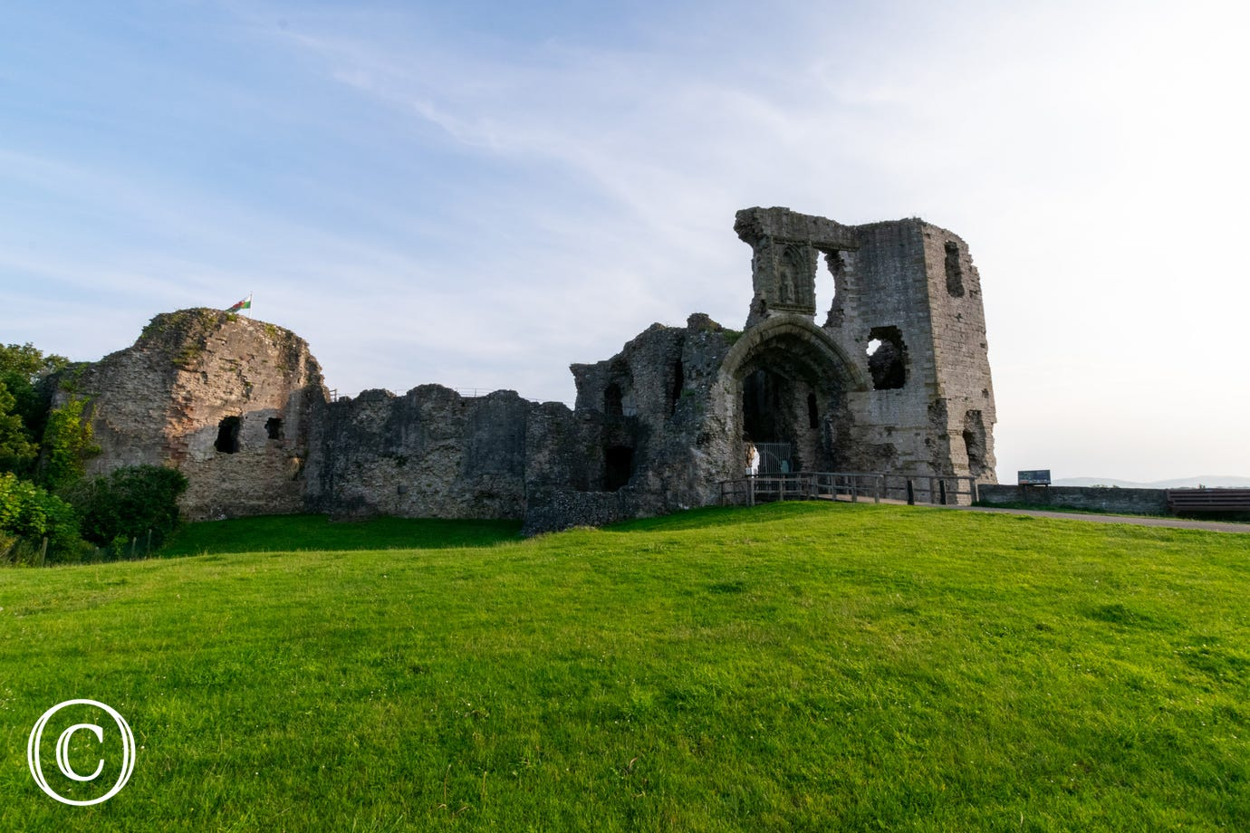 Denbigh Castle, 6 miles from your holiday accommodation in North Wales