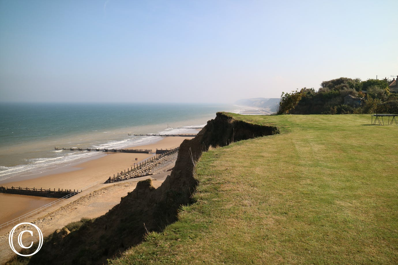 View of Overstrand beach - one of the finest beaches in north Norfolk