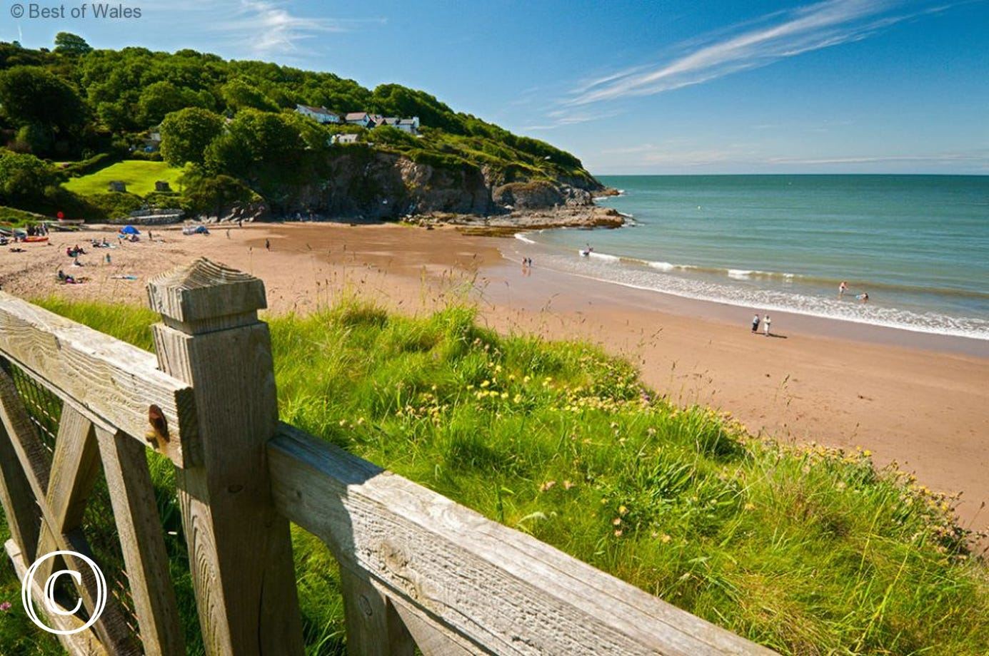 Aberporth beach nearby