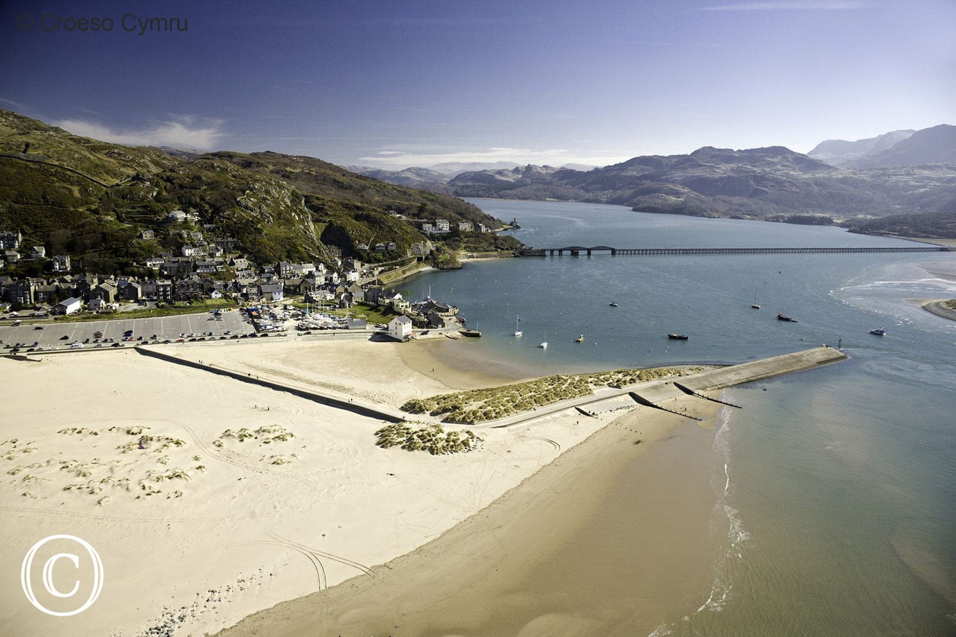 The Mawddach Trail brings you to this beautiful, Blue Flag beach at Barmouth