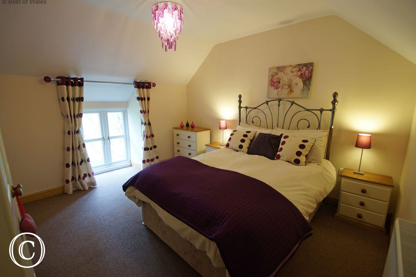 Upstairs double bedroom also offering lovely countryside views