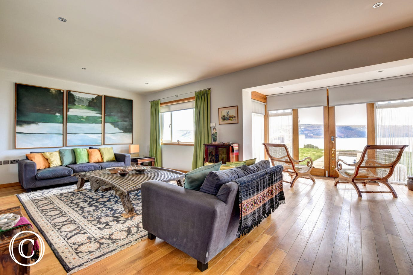 Spectacular Gwbert Holiday Cottage - lounge
